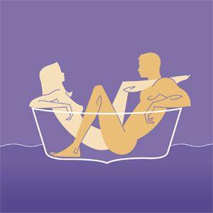 Znalezione obrazy dla zapytania sex position bath