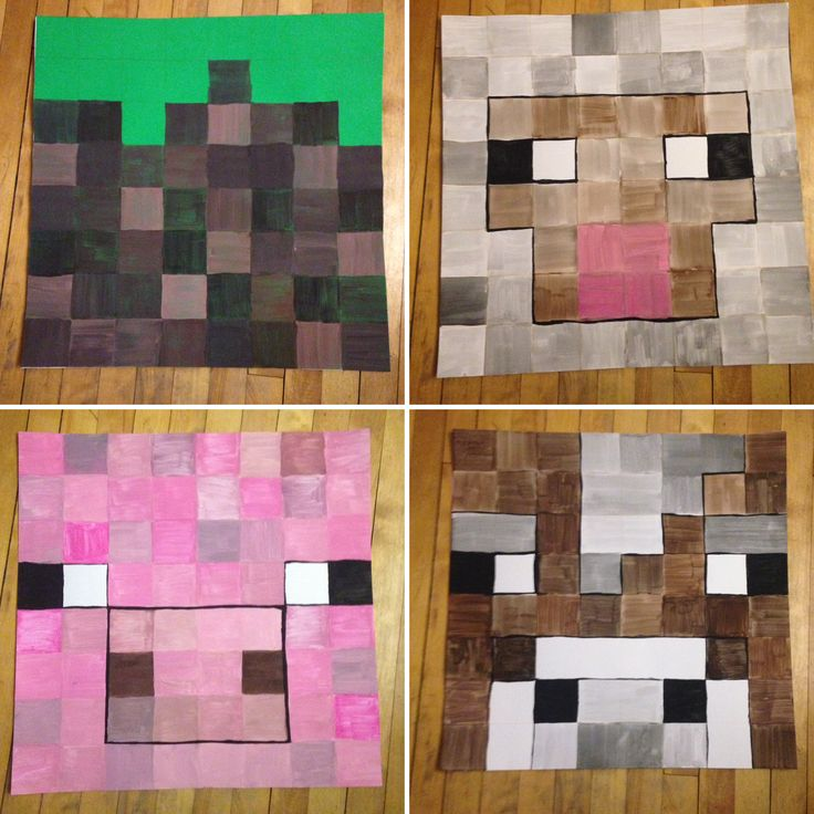 Minecraft decorations for birthday party