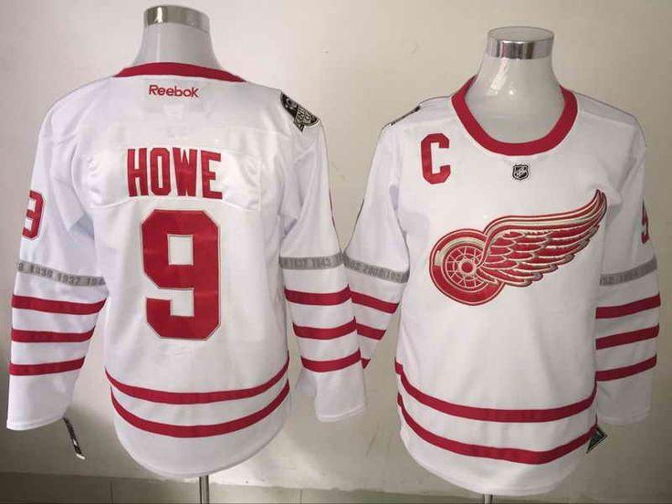 Red Wings #9 Gordie Howe White 2017 Centennial Classic Reebok Jersey
