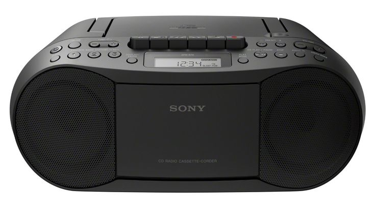 Sony Portable Boombox CD Player Cassette Player Digital AM/FM Radio with FSM 6 feet Aux Cable