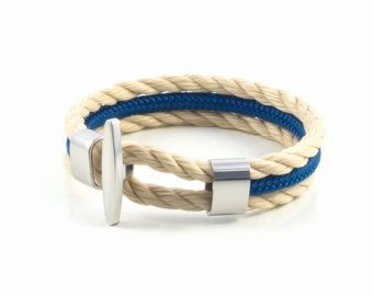 Premium quality handmade bracelet. It can be worn for any occasion.  Material : high quality marine rope, stainless steel.   SIZING  Measure the wrist without adding space and select the measure of your wrist. If you need a size that is not listed, please choose Other and include it in the notes section of your order at checkout.  SHIPPING  All orders will be shipped within 1-2 business days. After your package is shipped, you should get it in:  Europe : 5-10 days USA & Canada : 10-18 day...