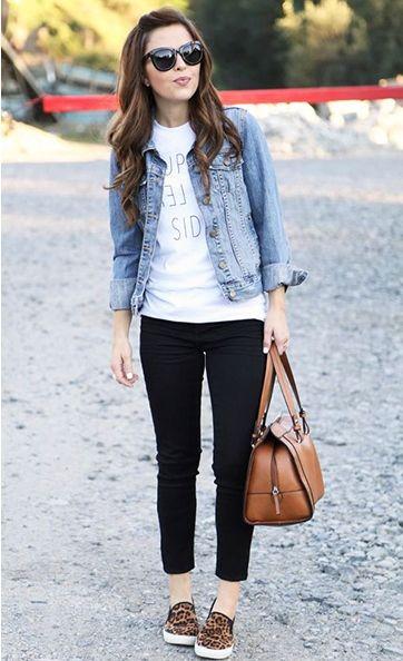 Inspiração jeans + animal print