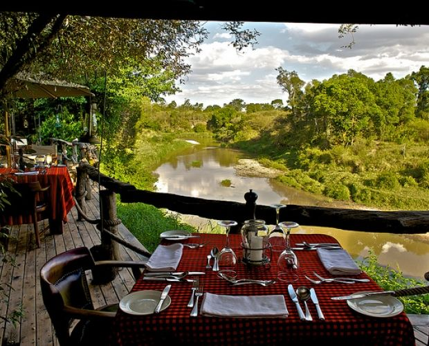 MARA EXPLORER - is an exclusive camp, situated on a thickly forested river in the middle of the Maasai Mara reserve, offering guests the ultimate wilderness retreat, where you can watch elephants or giraffes drinking from the privacy of your verandah. This camp has 10 luxurious and well-spaced tents, each with its own private river frontage and views over the Talek's southern banks.