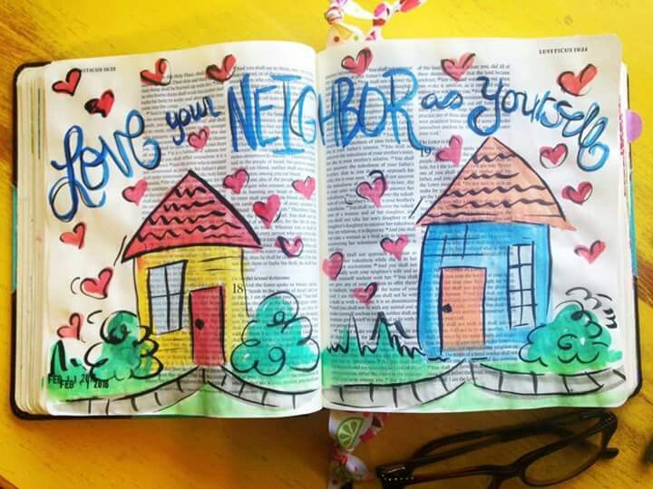 Love your neighbour as yourself -Bible journaling