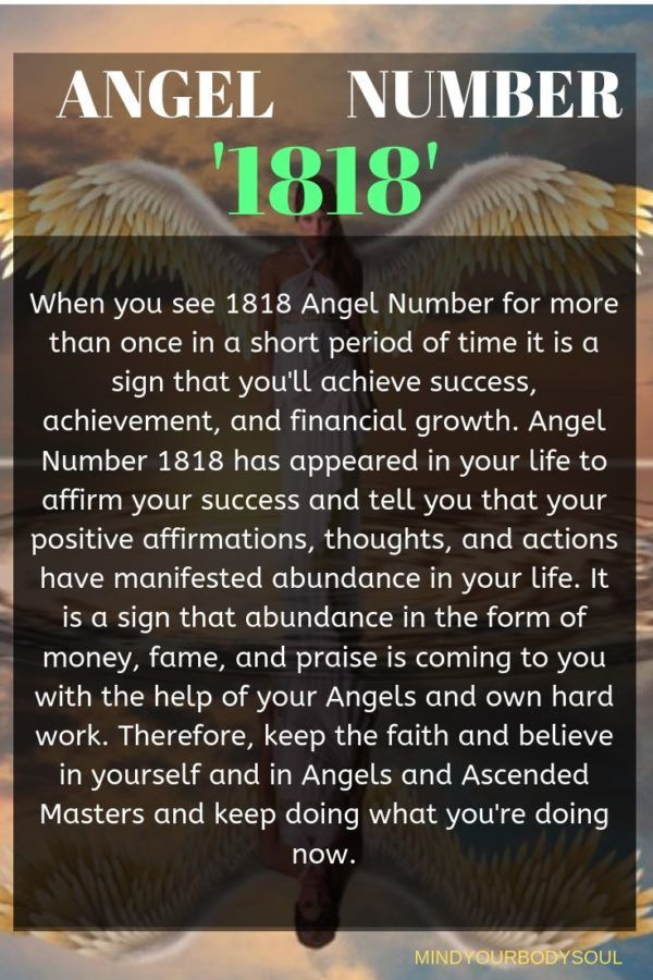 1818 Angel Number And It S Meaning Angel Number Meanings Angel