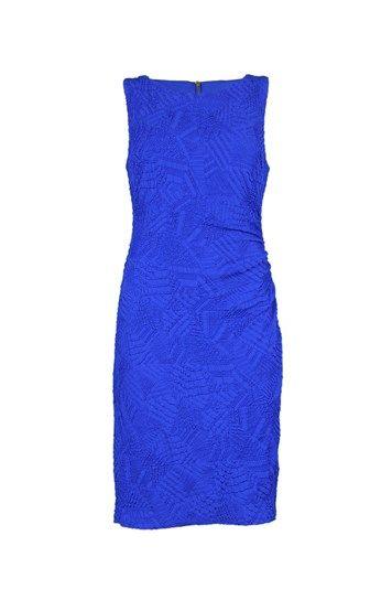 Joseph Ribkoff jurk structuur kobalt