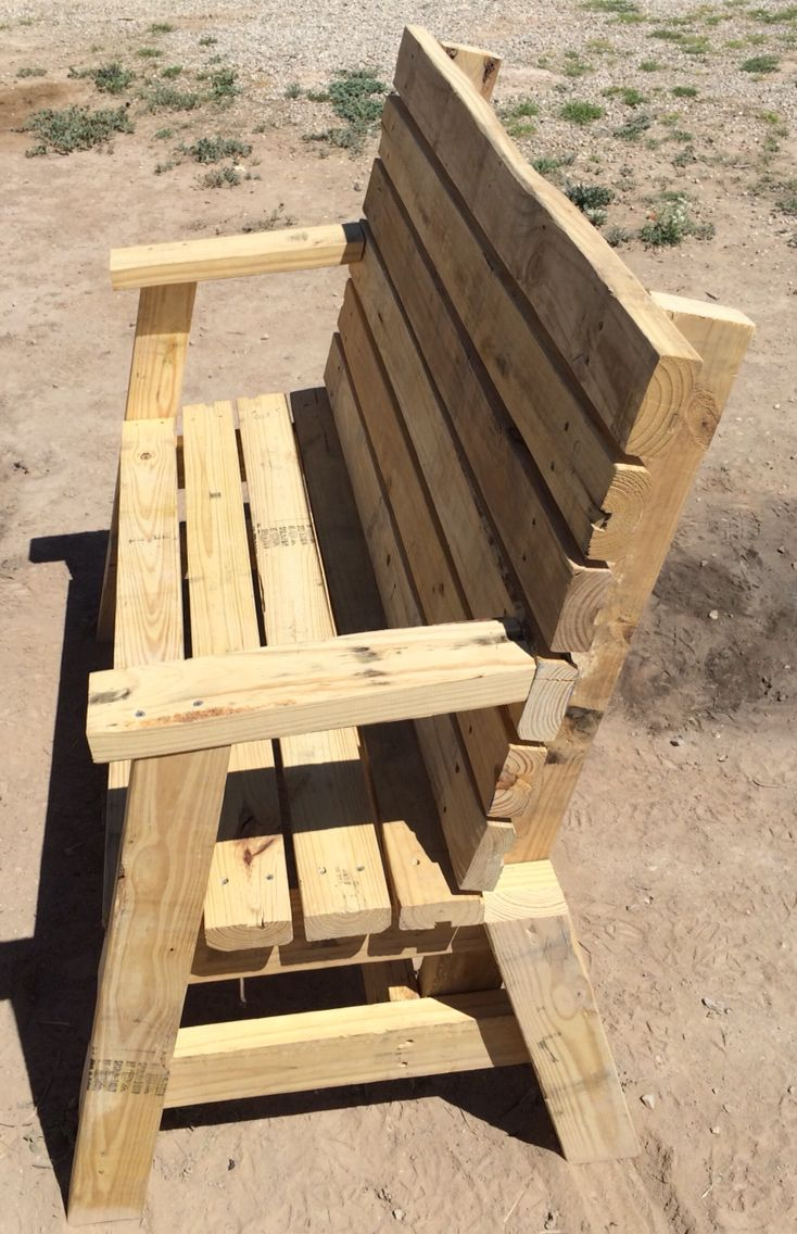 2 X 4 bench so I can sit out by the fire.