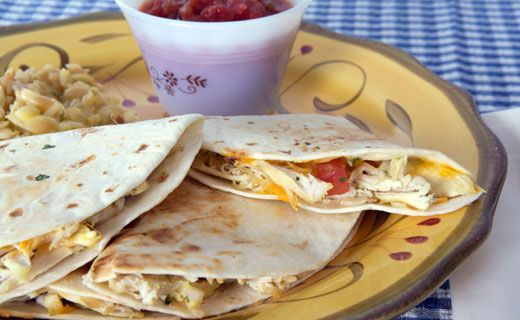 Epicure Chicken and Cheese Quesadillas