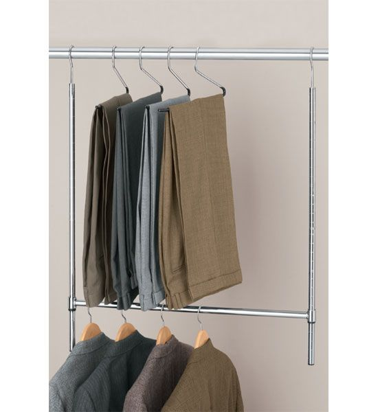 Amazing This Easy To Use Extra Steel Closet Rod Lets You Utilize All Of Your  Closetu0027s Vertical Space For Hanging Your Favorite Clothing. Simply Hang The  Commercial ...