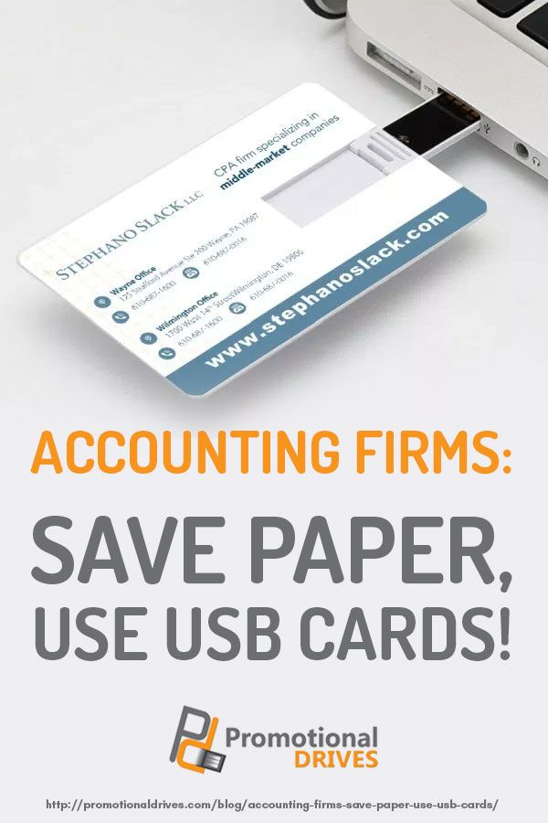 Accounting Firms Save Paper Use Usb Cards Accounting Firms