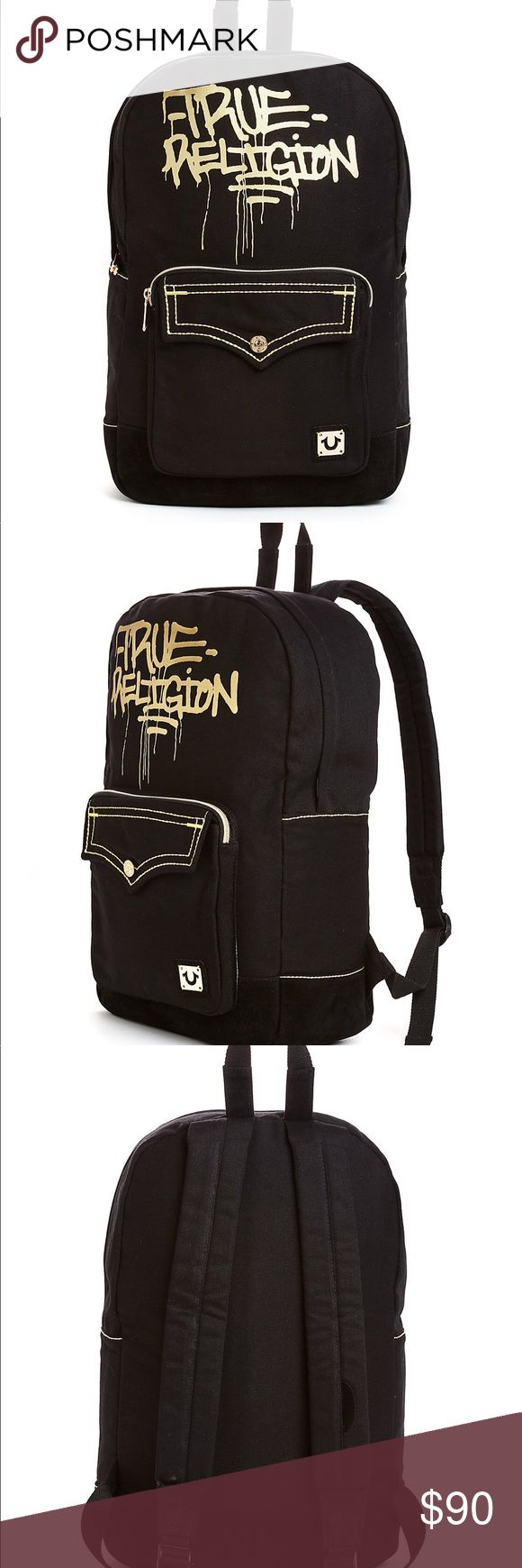 True Religion backpack Brand New With Tags ! Authentic  originally 149.00 Dimensions: 32.5 x 40 x 12 Very Nice backpack ! True Religion Bags Backpacks