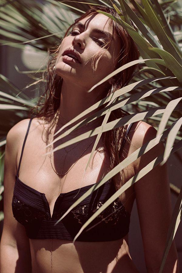 FOR LOVE & LEMONS - Ibiza Bikini Top - Black