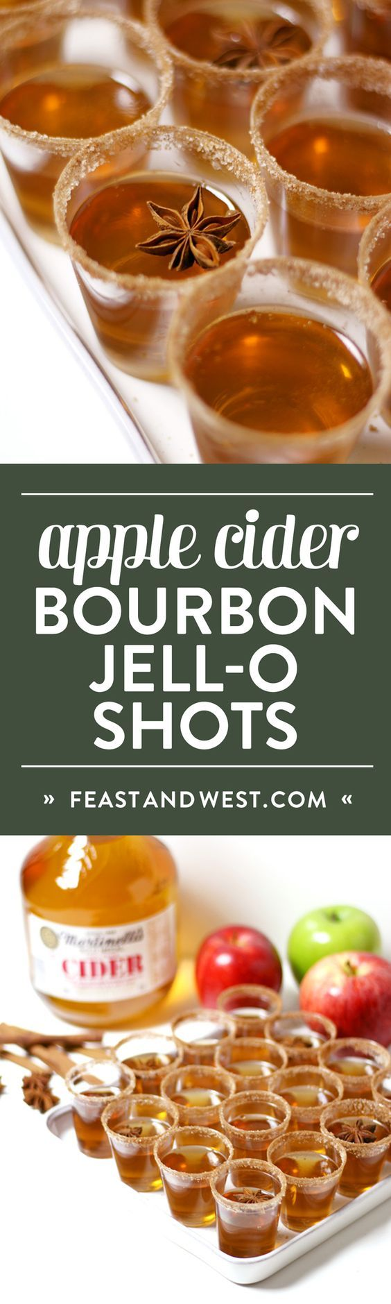 (80) Gourmet Apple Cider Bourbon Jell-O Shots | Recipe