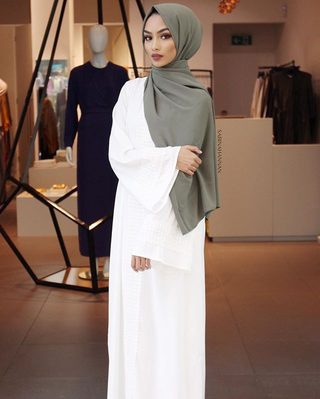 Hijab Fashion | KHAKI x WHITE | INAYAH
