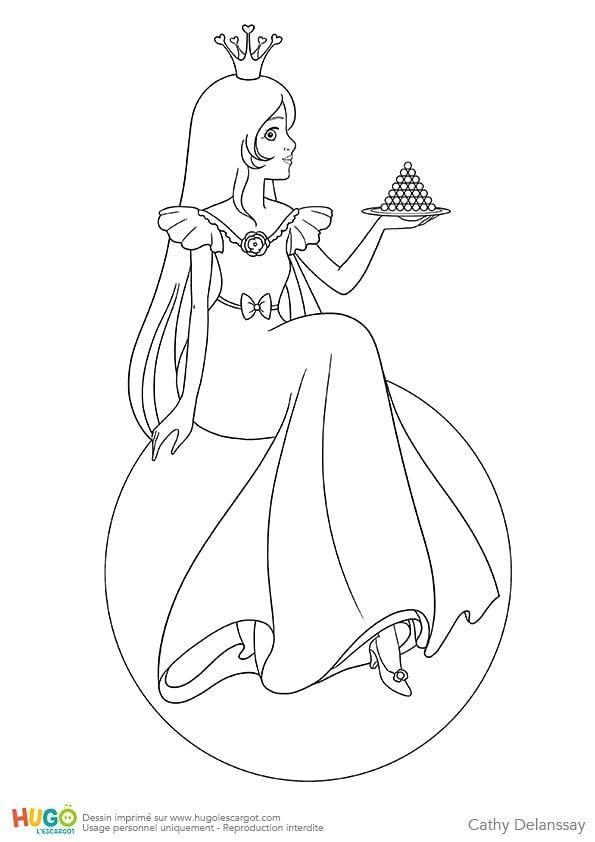 Coloriage Et Illustration De La Princesse Au Petit Pois
