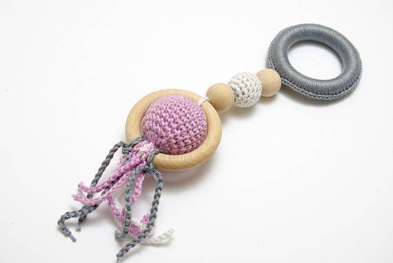 Sensory toy crochet baby toy baby teether baby teething