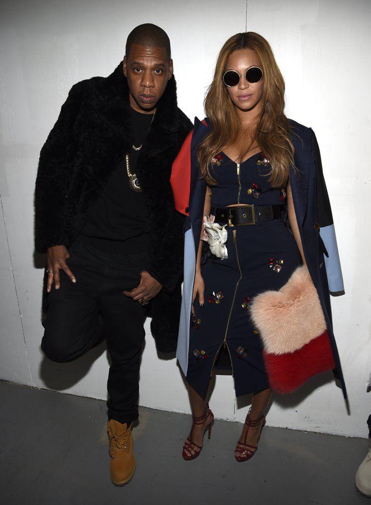 Pin for Later: Beyoncé, Rihanna und weitere Stars unterstützen Kanye West Jay-Z und Beyoncé