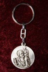 Grote ronde Christoffel sleutelhanger - De Vrolijke Engel