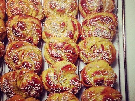 Lussebullar med fyllning | Recept från Köket.se