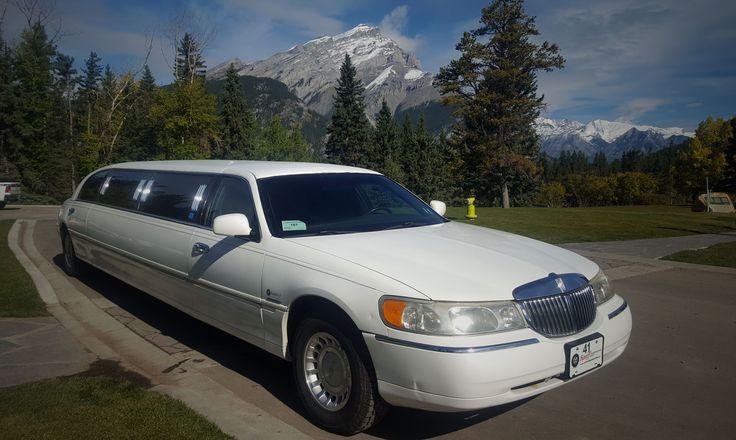 Wedding Limo in Banff, Alberta, Canada  #limo #banff #wedding #limousine #mountain #fashion #luxury