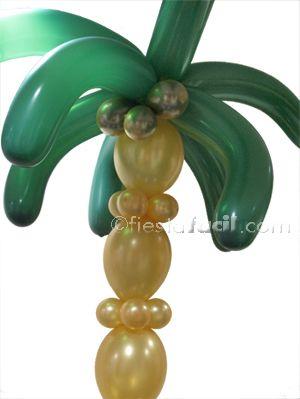 C mo hacer una palmera con globos para decorar tu fiesta - Como hacer una palmera artificial ...