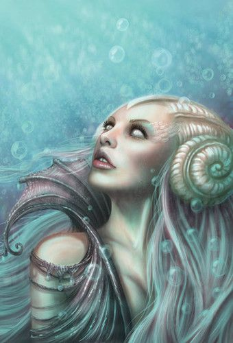 Fantasy Sea Creatures | fantasy,sea,creature,sea,monster,sea,woman,surreal,under,water ...