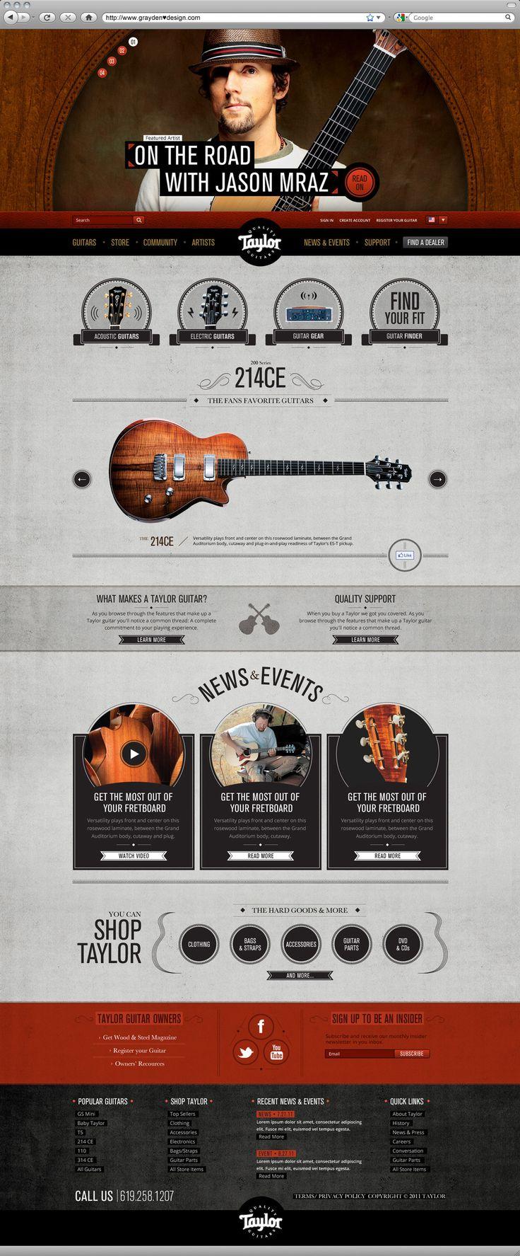 Taylor Guitars website Designed by Grayden Poper @ Digitaria