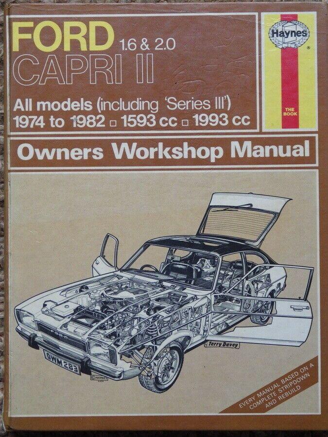 Ford Capri Mk 2 1 6 Amp 2 0 1974 82 Haynes Car Manual Ford