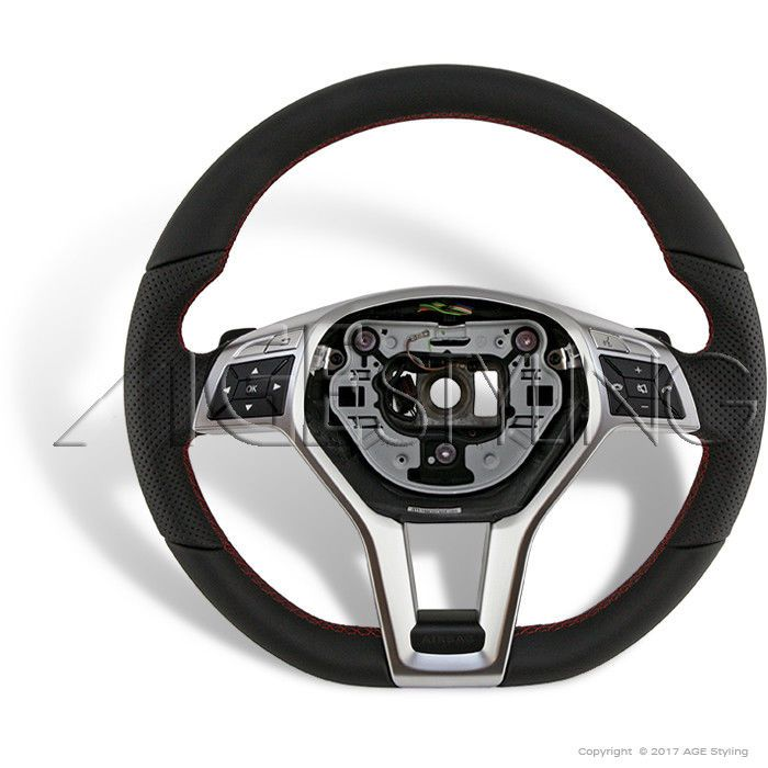 Oem Mercedes Benz C Class204 C250 C300 C350 C63 Leather Steering Wheel 2012 2015 Benz C Steering Wheel Mercedes Benz