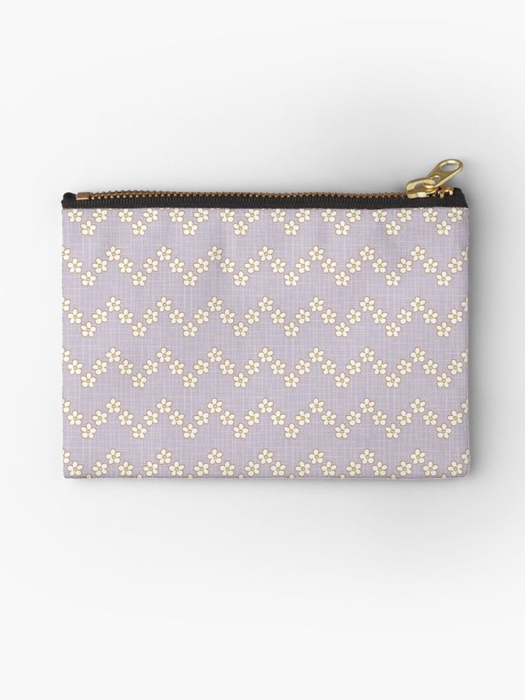 #chevron #tiny #blossom #fresh #Flowers #calm #Springtime #Pastel #Flowery #bloom #botanical #garden #orchidhush #orchid #lilac #violet #Mia #redbubble #pouch