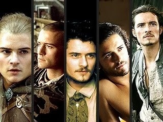 The many faces of Orlando Bloom: Lord of the Rings; Blackhawk Down; Ned Kelly; Troy; Pirates of the Caribbean.