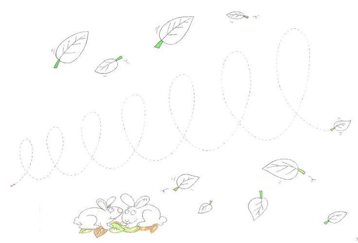 schrijfpatroon herfstblaadjes voor kleuters
