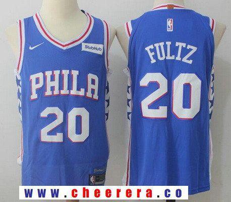 5989e108653 Men s Philadelphia 76ers  20 Markelle Fultz Royal Blue 2017-2018 Nike  Swingman Stubhub Stitched NBA Jersey
