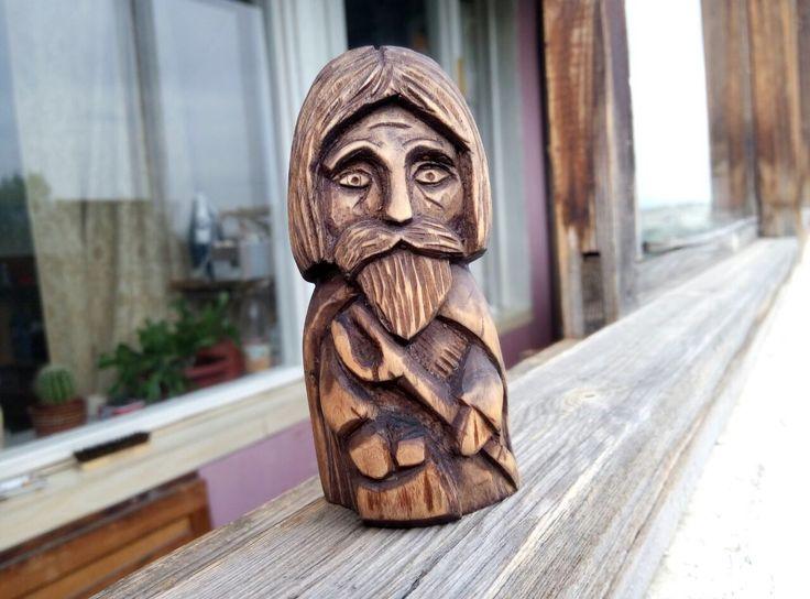 Купить Домовой из дерева - резьба по дереву, дерево, художественная резьба, домашний уют, домовой