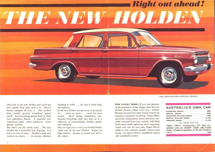 The New [1962 EJ] Holden