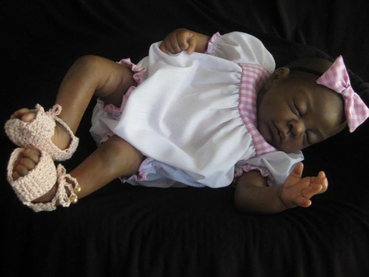 14-16 inch SET =Romper-Headband-Shoes -Reborn Doll- Hand Made Doll Clothing