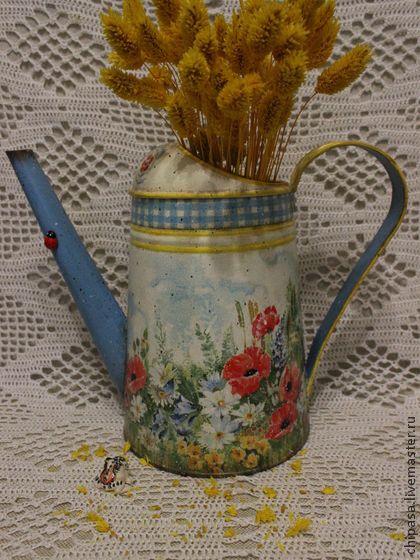 """Лейки ручной работы. Ярмарка Мастеров - ручная работа Лейка """" Полевые цветы """". Handmade."""