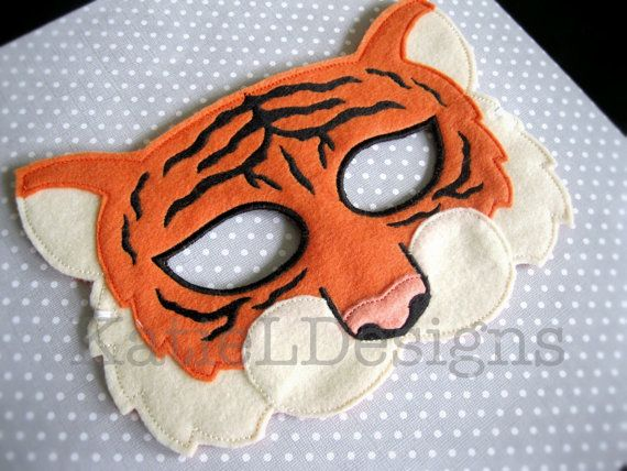 ITH Tiger Mask Machine Embroidery Design Pattern by KatieLDesigns