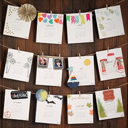 DIY 2014 Calendar Workshop