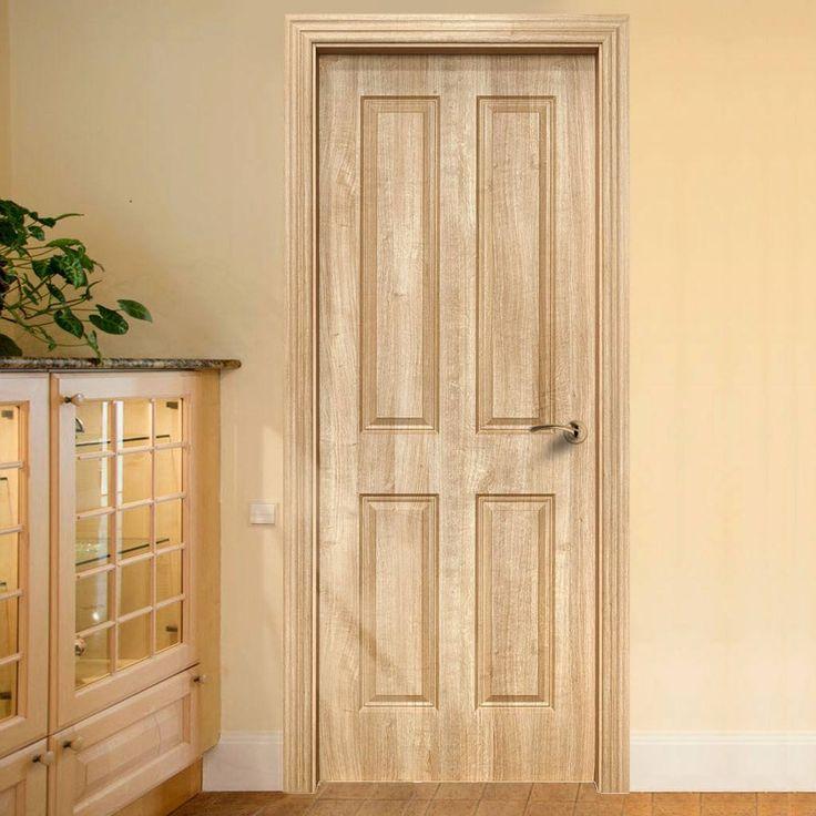 Regency 4 Panel Trojan Oak Composite Fire Doorset with 135mm Broad Frame. #oakdoor #firedoor #oakfiredoor