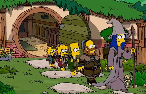 Les Simpson – Le générique spécial «Hobbit»
