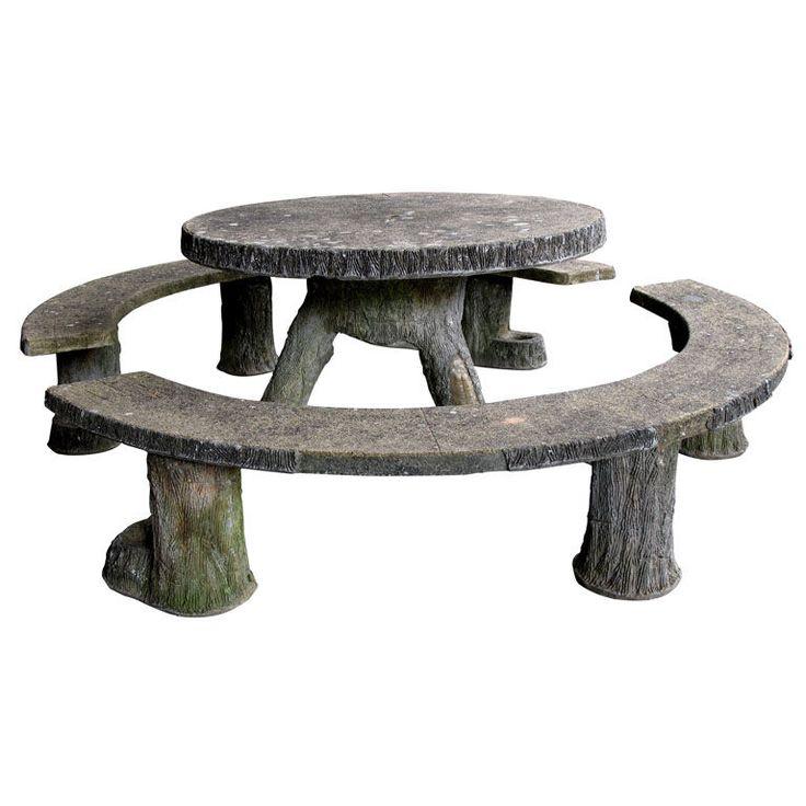 32 best images about concrete picnic tables on pinterest. Black Bedroom Furniture Sets. Home Design Ideas
