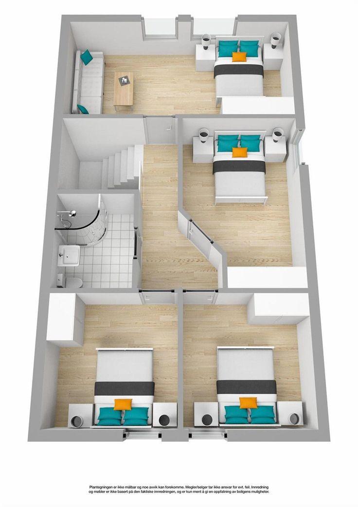 (36) FINN – SKJETTEN - Pent, velholdt enderekkehus med solrike uteplasser, 2 stuer og 3 (4) soverom. Sentralt område med kort skolevei!