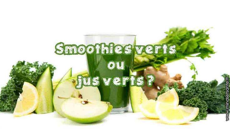 Pour réaliser des jus verts on utilise une centrifugeuse ou un extracteur de jus, pour les smoothies verts on utilise un blender, la principale différence..