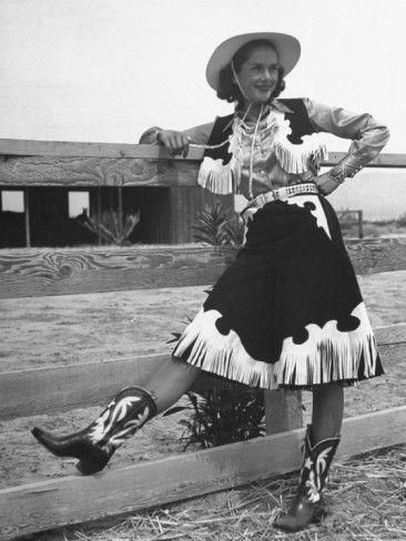 From a western clothing catalog - 1950s reminds me of an Annie Oakley Clalmity Jane costume i had as a kid