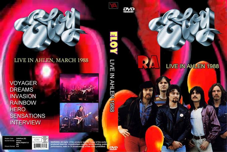 4. ELOY - ra (live in ahlen) 1988 dvdcollectible - very rare
