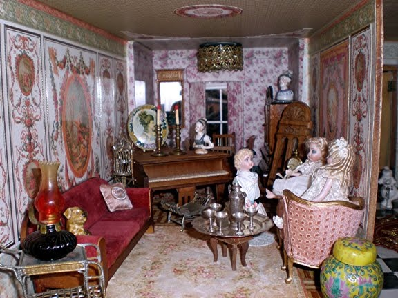 Victorian Dollhouse Wallpaper Color Cut