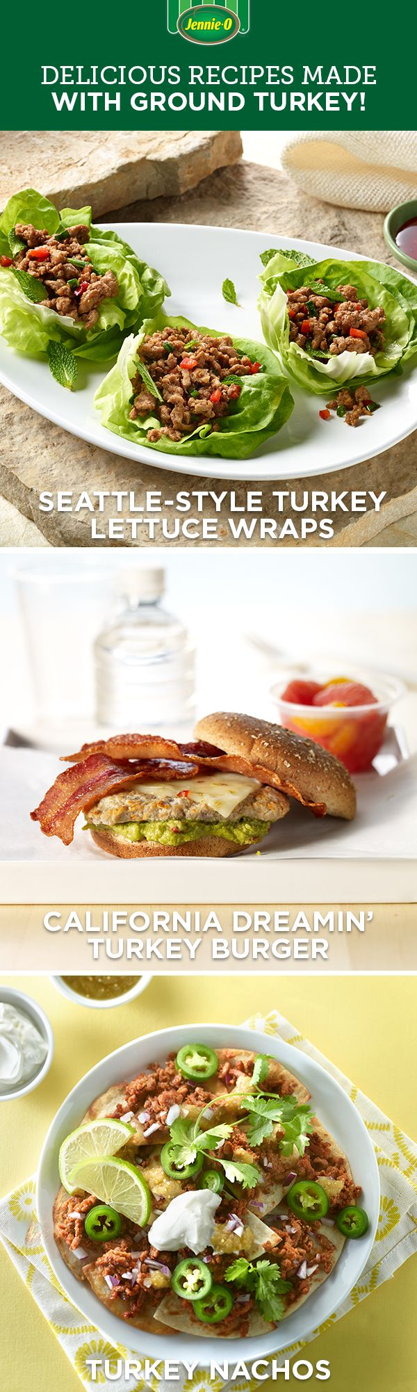 It's easy to eat well with JENNIE-O® Ground Turkey! Try these classics tonight.