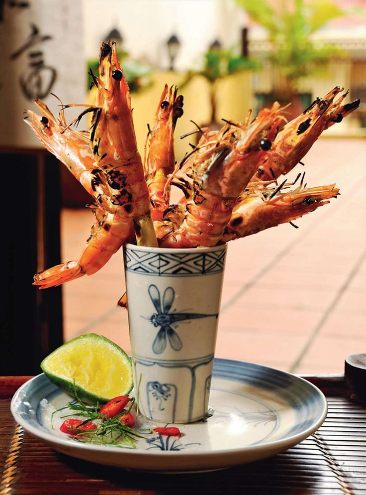Barbecued prawns with lemongrass by Tracey Lister & Andreas Pohl from Real Vietnamese Cooking | Cooked