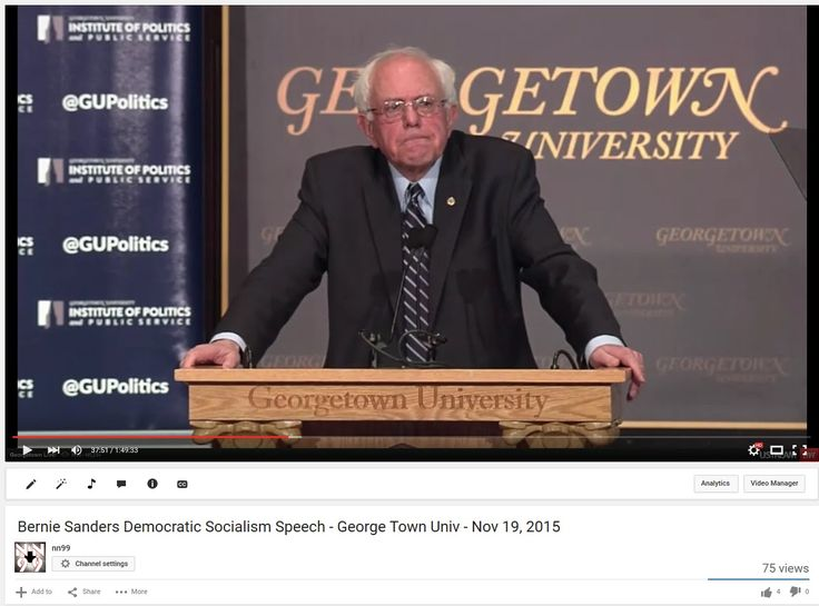 Bernie Sanders Democratic Socialism FULL Speech, Georgetown Univ, Nov 19, 2015 ARTICLE: 5 Reasons Bernie Sanders Is More Qualified to Be Commander in Chief Than Hillary Clinton http://www.huffingtonpost.com/h-a-goodman/5-reasons-bernie-sanders-is-more-qualified-to-be-commander-in-chief-_b_8608074.html